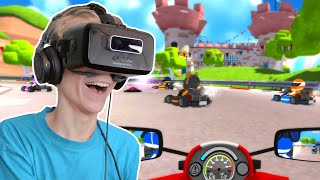MARIO KART IN VIRTUAL REALITY!? | VR Karts (Oculus Rift DK2)
