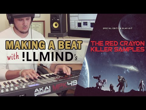 Making a Beat Using ILLMIND'S Red Crayon Killer Samples Pack -