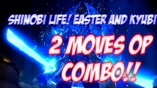 ROBLOX | Best combo insta 2 MOVES!! OP | SHINOBI LIFE NEW COMBO OP
