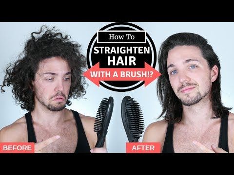 ✅ How To Straighten Hair with a Brush - Mens Hair Straightening