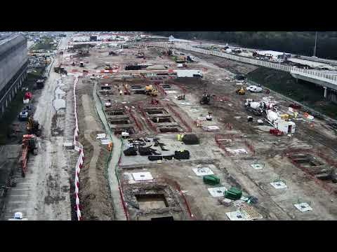 Manchester Airport transformation time lapse Feb 2018