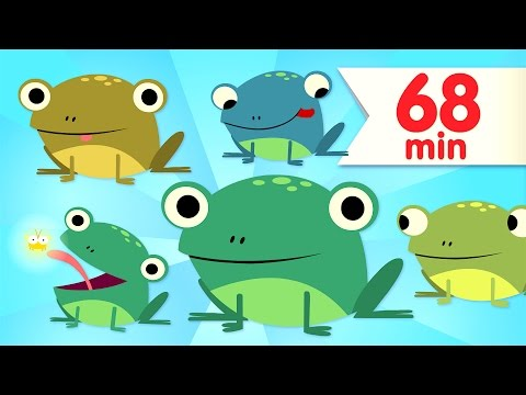 Five Little Speckled Frogs  + More Kids Songs  Super Simple Songs
