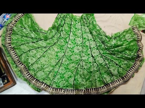 DIY/..How to cutting stitching Anarkali Lahnga..56 Kaliyon wala with piping