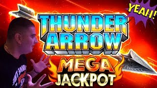 High Limit Thunder Arrow Slot Machine BIG HANDPAY JACKPOT | High Limit Konami Slot HANDPAY JACKPOT