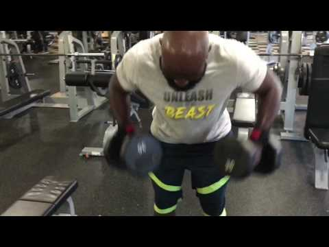 Working Out With Luke Cage.!!!  High Volume Back Workout