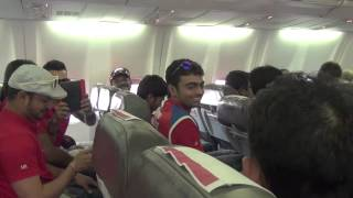 Virat Kohli Having fun on the Flight to Jaipur