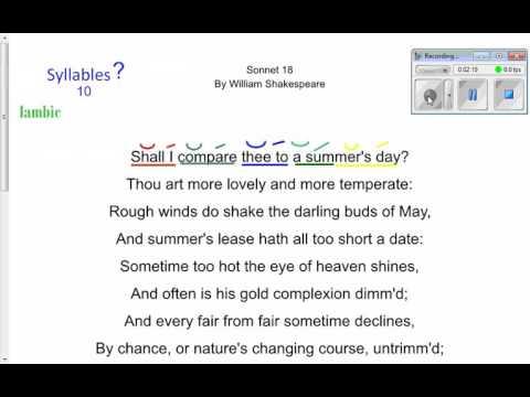 sonnet iambic pentameter youtube
