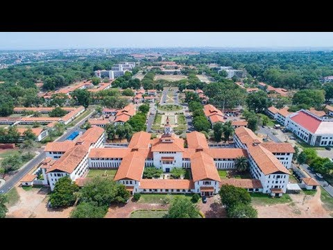 Driving Through the University of Ghana at Legon - May 2018