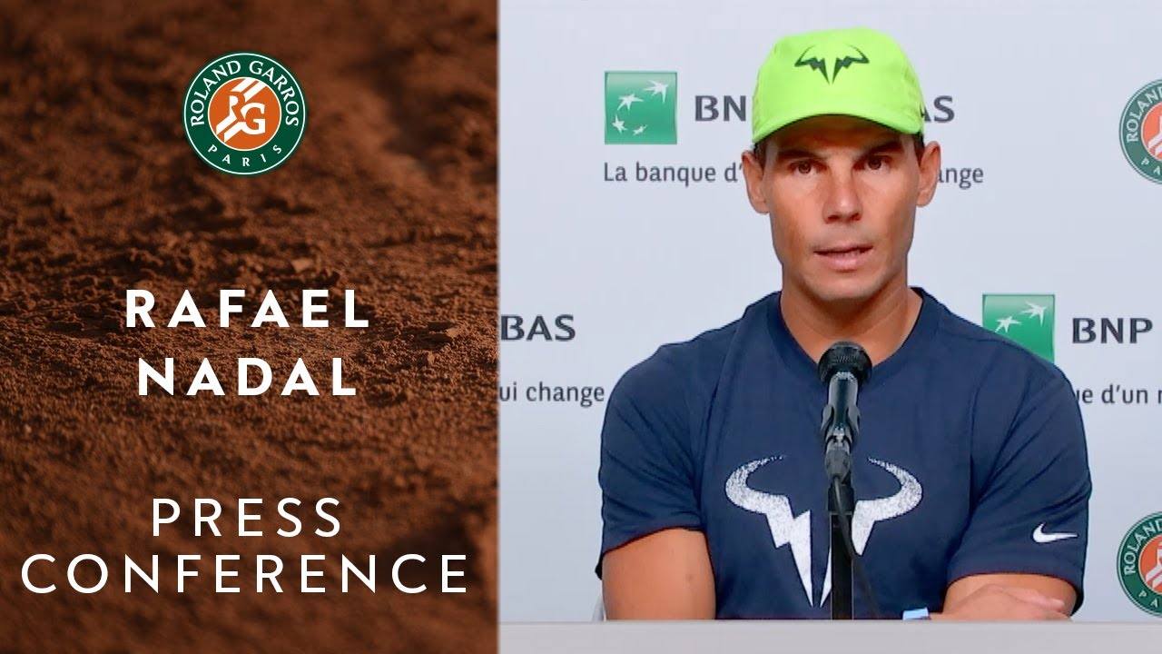 Rafael Nadal Press Conference Before Round 1 Roland Garros 2020 Youtube