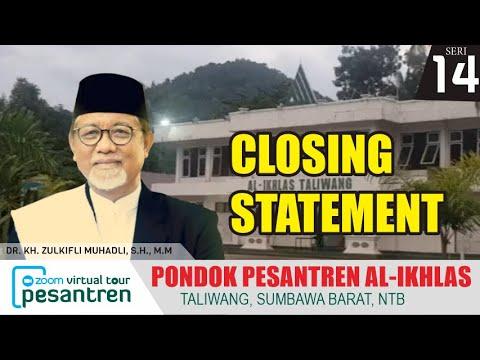 Closing Statement DR. KH. Zulkifli Muhadli, S.H., M.M