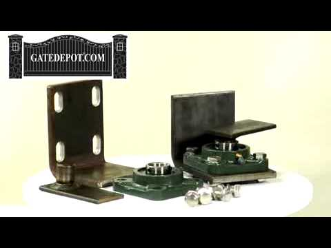 Metal Driveway Gate Hinge Kit Video Player Youtube