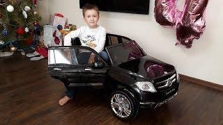 Детский Электромобиль Мерседес Mercedes GLK Class 12V KREISS с пультом Распаковка и обзор
