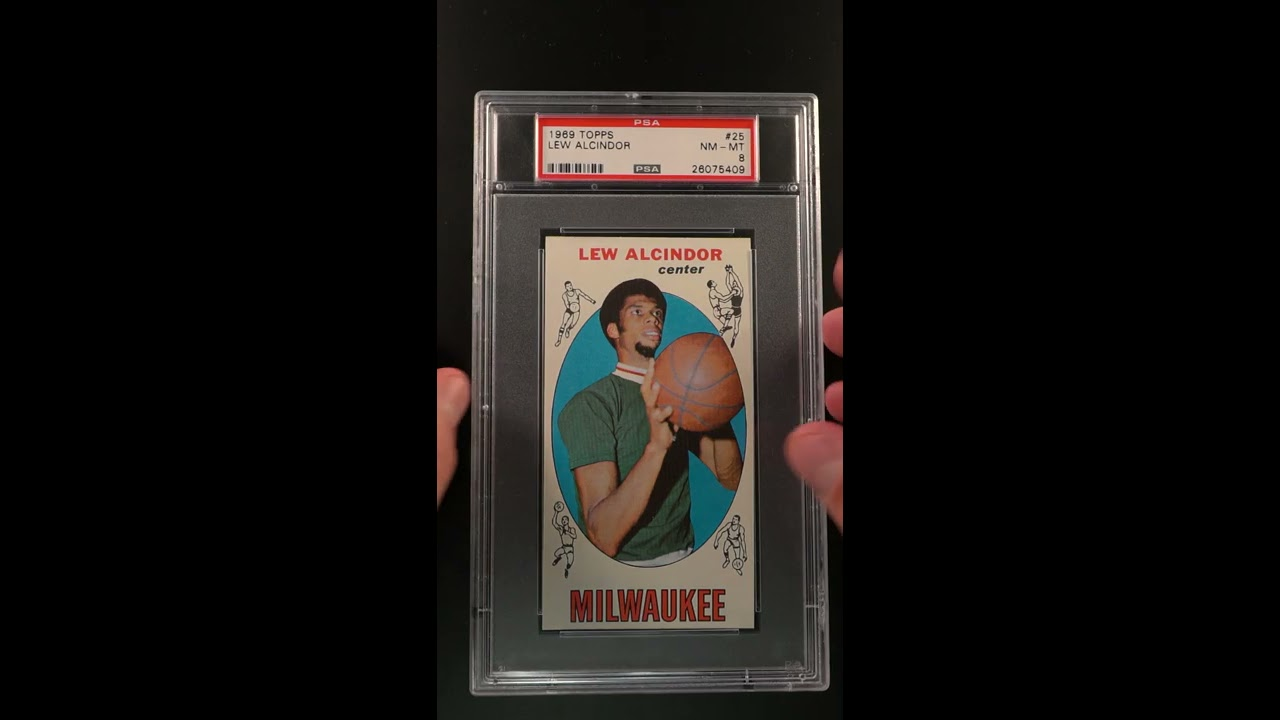 1969 Topps Basketball Lew Alcindor Rookie Rc 25 Psa 8 Nm Mt Pwcc S Ends 52019