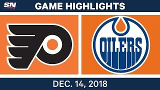 NHL Highlights | Flyers vs. Oilers - Dec 14, 2018