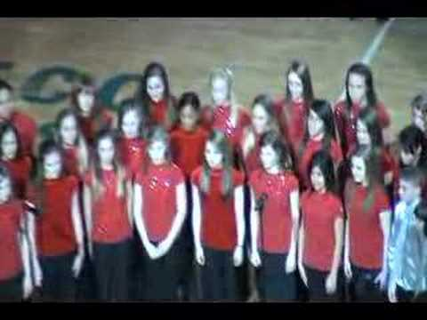 Fishers Junior High School Sings National Anthem