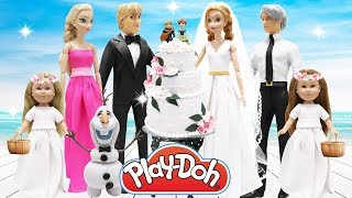 Play Doh Frozen Wedding Anna & Kristoff Elsa Jack Frost Olaf My Life As Bridemaids I Wedding Cake