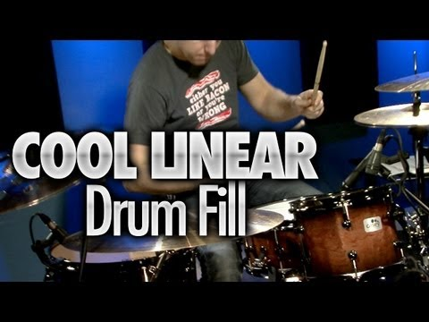 Cool Linear Drum Fill - Drum Lessons