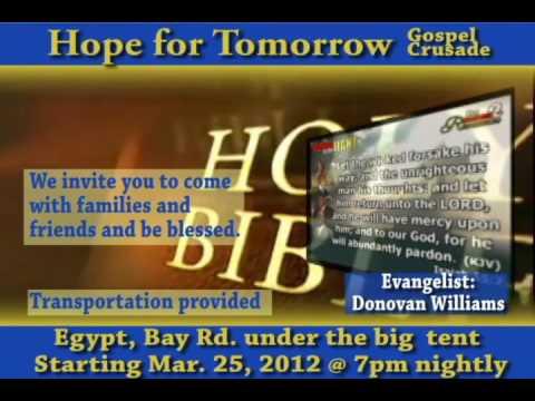 Hope For Tomorrow Gospel Crusade Promo Ad