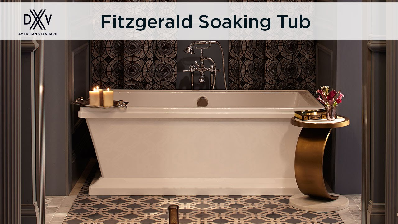 Fitzgerald Freestanding Soaking Tub by DXV - YouTube