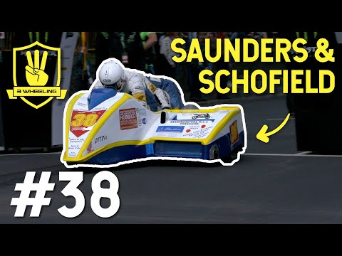 Isle Of Man TT - 3 Wheeling No.38 Mark Saunders & Karl Schofield HD - TT 2018