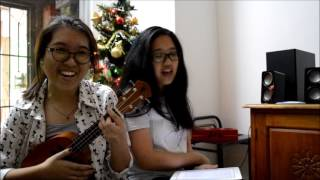 Christmas in the Sand - Colbie Caillat (Ukulele cover + Twin!)