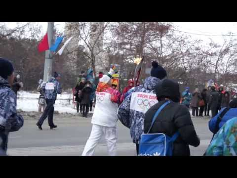 Олимпийский огонь г.Челябинск, ул.Лесопарковая.