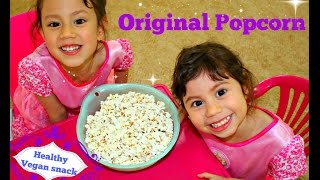 Healthy Popcorn recipe with Hanna and Mia