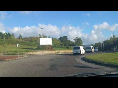 Driving In St.Lucia