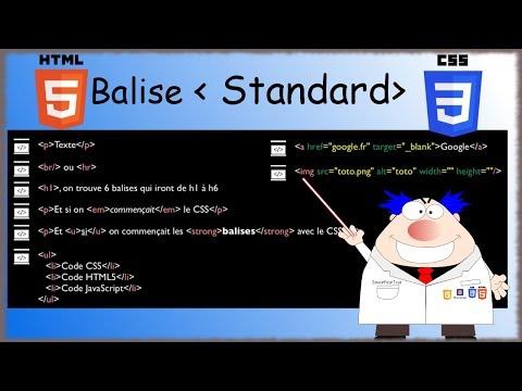HTML5 / CSS3 - 06 - Balise Standard