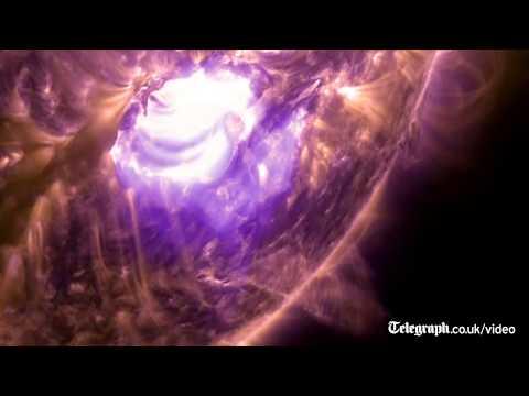 Nasa films captivating footage of intense solar flare