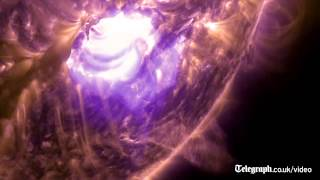 Nasa films captivating footage of intense solar flare