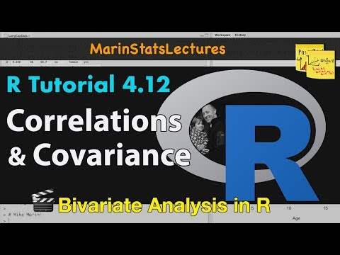 Correlation and Covariance in R (R Tutorial 4.9)