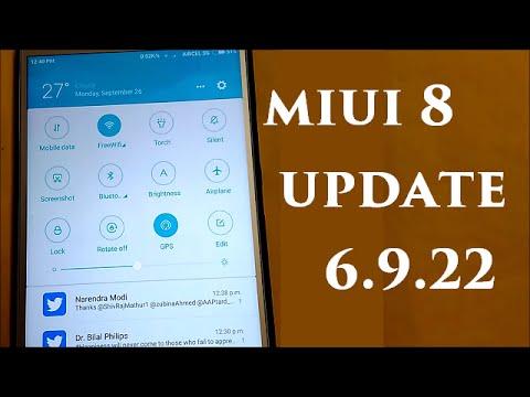 Latest MIUI 8 Update 6.9.22 Features