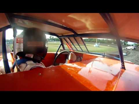 Andy Bishop (#2 Incar Modified Heat Race 1) Gas City Speedway 7-6-12