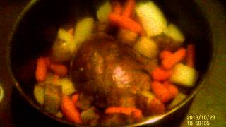 Smithfield Garlic And Herb Pork Sirloin Roast With Potatoes And Carrots. Yummm!