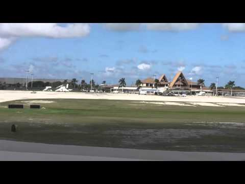 Landing into Owen Roberts International Airport
