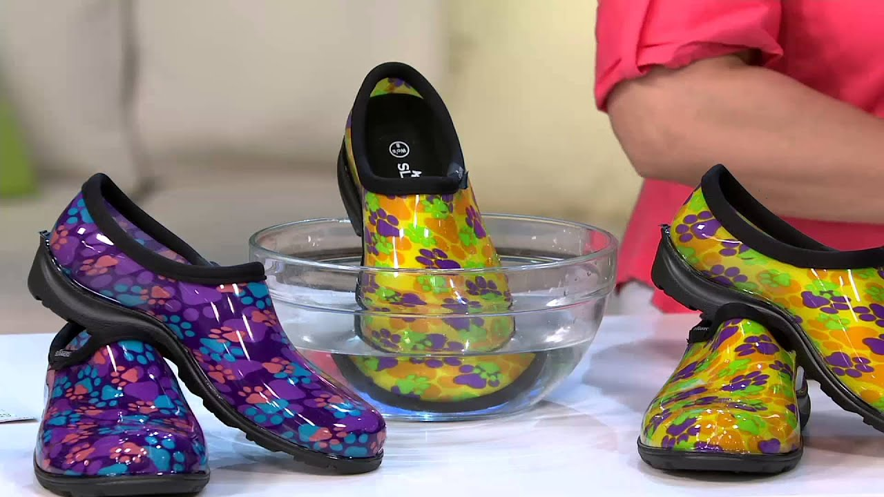 Sloggers Multi Color Paw Print Garden Shoes W Comfort Insoles On Qvc