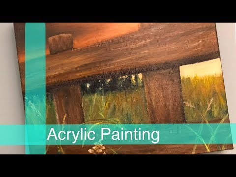 Acrylic SpeedPainting – Country Landscape
