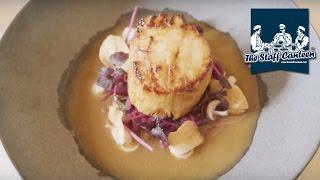 Miso glazed scallops and venison in spiced marinate Kikkoman recipes