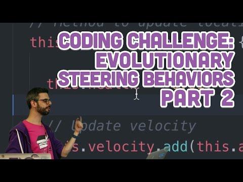 Coding Challenge #69.2: Evolutionary Steering Behaviors - Part 2