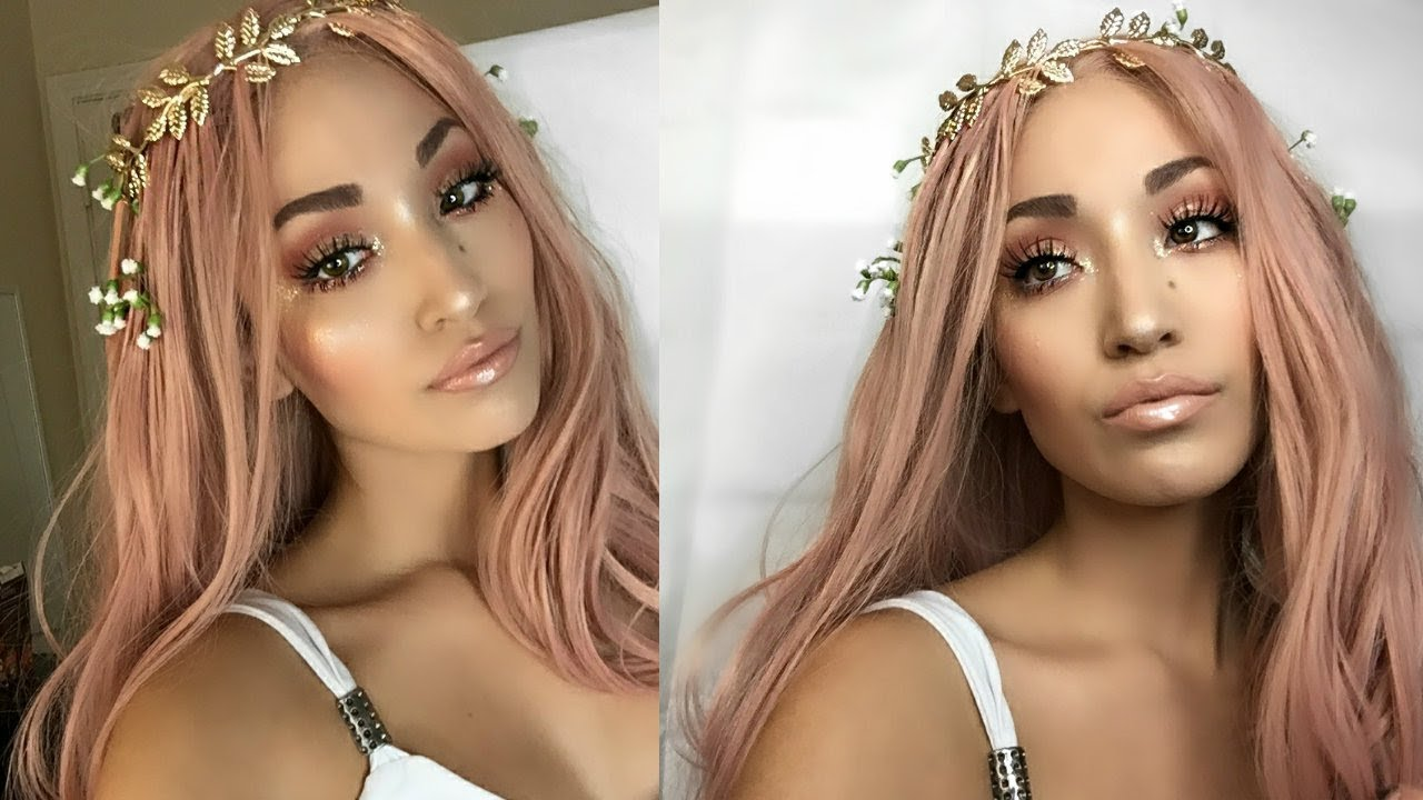 Greek Goddess Aphrodite Halloween Makeup Tutorial Youtube
