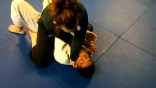 Front Choke From Mount - This is an attack from mount using the lapels.