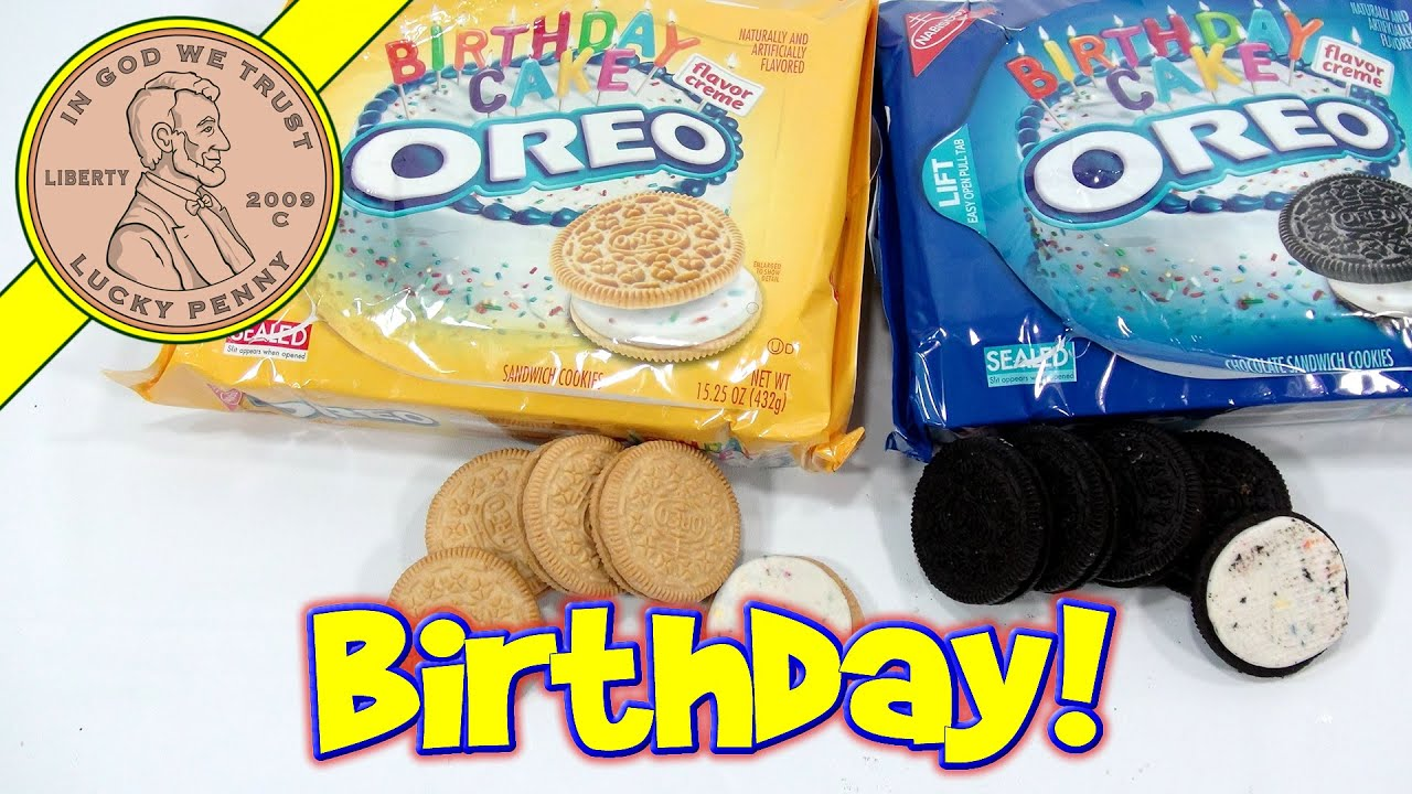 Oreo Birthday Cake Chocolate & Vanilla Cookie Sandwiches With Silk ...
