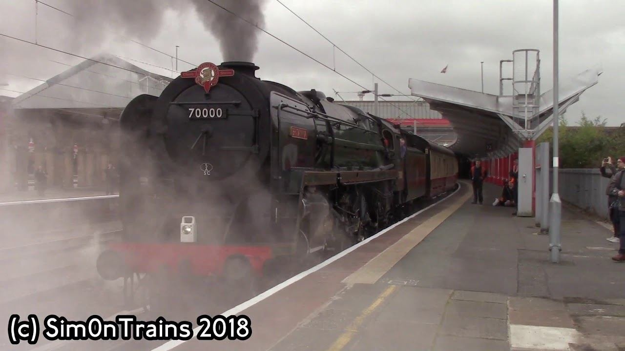 BR Standard Class 7, 70000 Britannia at Crewe and Stafford (23rd October  2018)