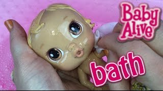 Baby Alive Crib's Life Doll Bath and Talking