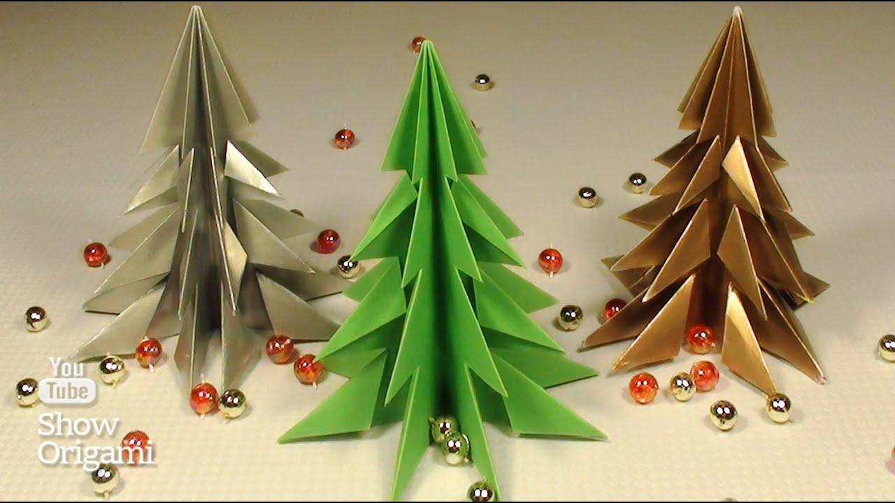 Comment Faire Des Arbres En Papier pour comment faire un arbre de noël sur papier sans colle. - youtube