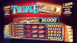 TRIPLE GOLD IGT Slot Machine - 5.00 Bet - Win - Pokies @ Holland Casino Venlo 슬롯 머신
