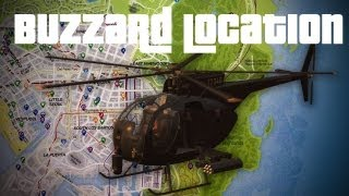 GTA V- Free Buzzard Location! Military Helicopter