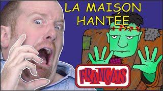 Maison Hantée pour les Enfants   Chansons d'Halloween   Le français avec Steve and Maggie Français