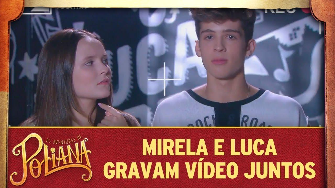 Luca e Mirela gravam vídeo juntos | As Aventuras de Poliana
